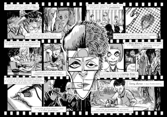 Una doppia pagina del fumetto L'Uomo delle Stelle