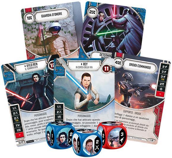 Alcune delle nuove carte di Star Wars: Destiny