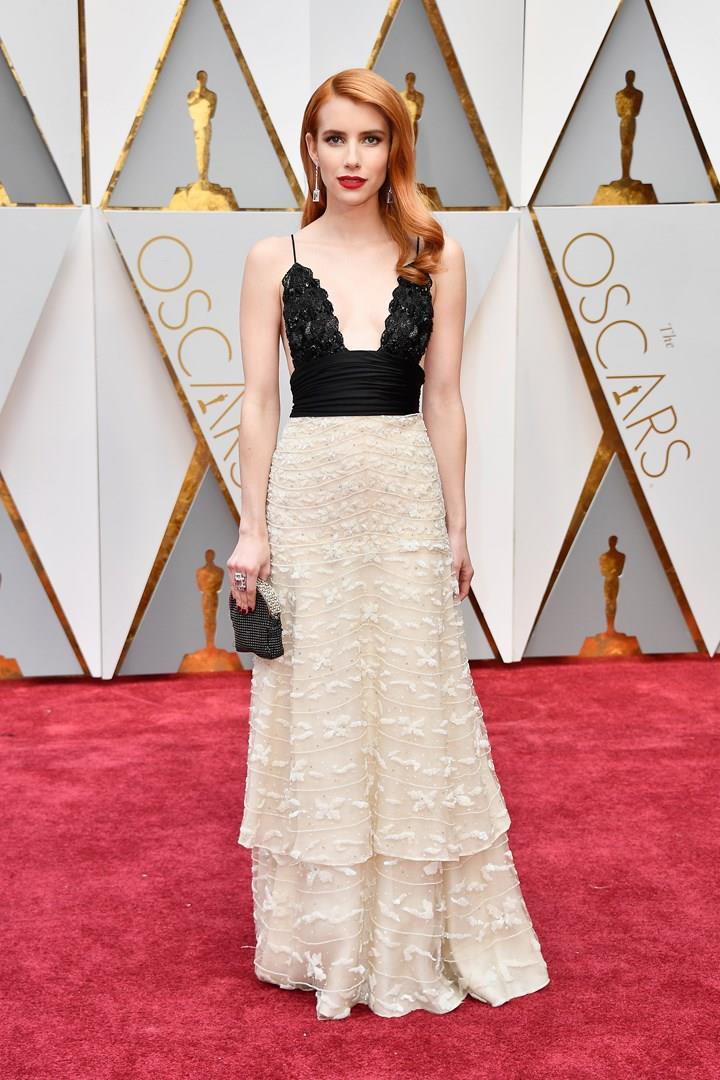 Emma Roberts sul red carpet degli Oscar
