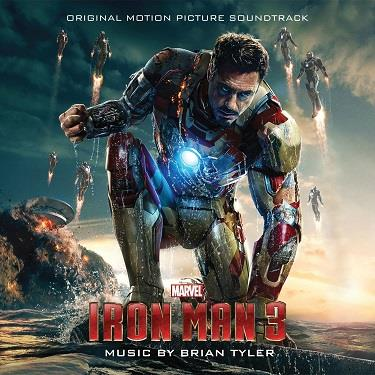 Tony Stark in ginocchio sulla cover della colonna sonora di Iron Man 3