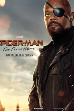 Il character poster di Nick Fury per Spider-Man: Far From Home