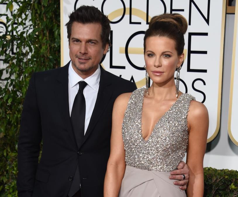 Len Wiseman e Kate Beckinsale ai Golden Globe