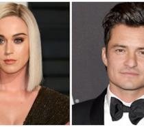 Primo piano di Katy Perry e Orlando Bloom