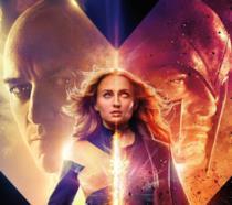 Un primo piano di Jean Grey nel poster di Dark Phoenix
