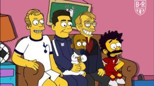 Uno screen della sigla dei Simpson versione Champions League