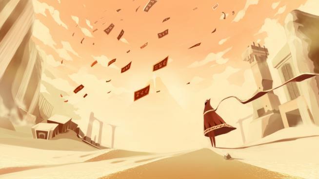 Le oniriche sabbie di Journey su PlayStation 4