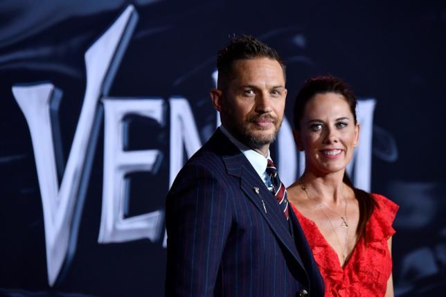 Tom Hardy alla premiere di Venom
