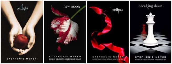 Le quattro copertine della saga di twilight