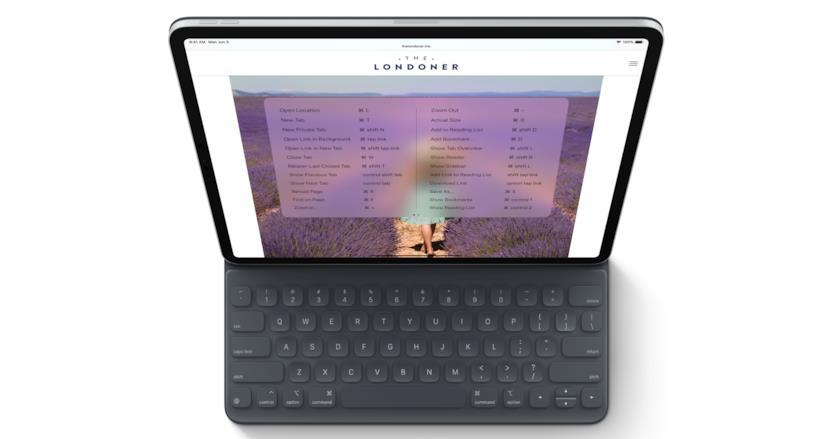 Immagine promozionale di iPad Pro con un tastiera esterna