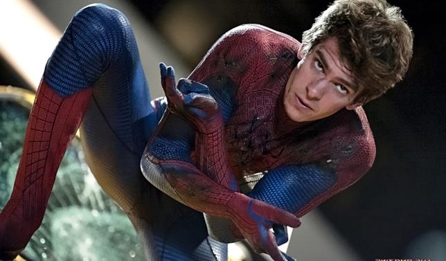 L'attore Andrew Garfield in Spider-Man