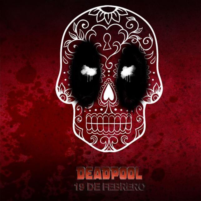Il poster di Deadpool a forma di teschio
