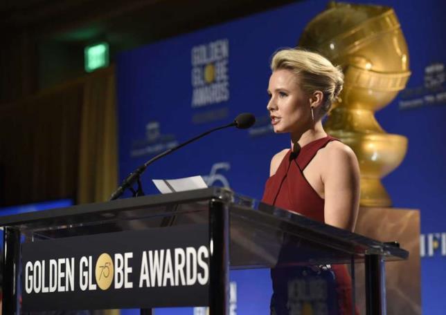 Kristen Bell ai Golden Globe Awards