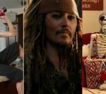 Johnny Depp nei panni di Jack Sparrow in Pirati dei Caraibi - La vendetta di Salazar