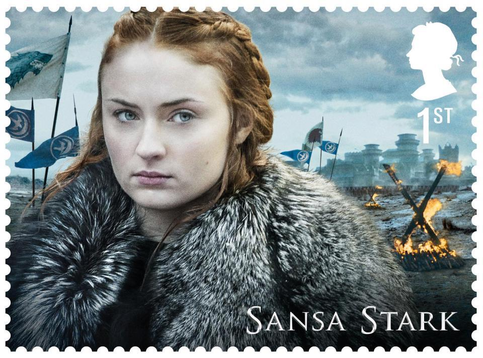 Sansa Stark di Game of Thrones sul suo francobollo