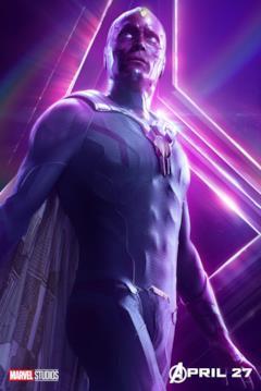 Il poster del personaggio di Visione