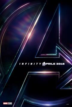 Teaser poster di Avengers: Infinity War con la A del logo