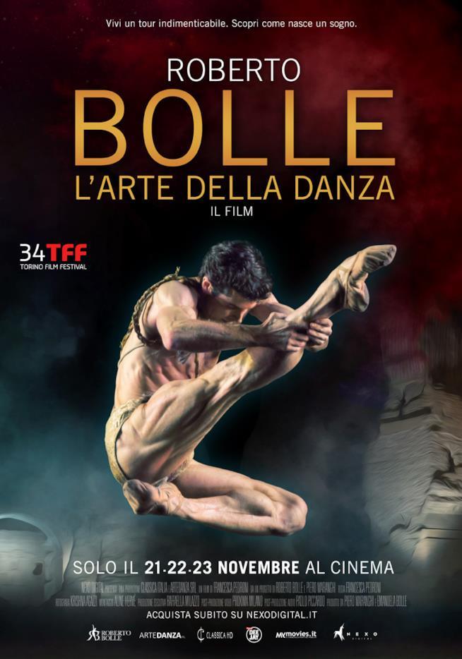 Nei cinema italiani per tre giorni Roberto Bolle – L'arte della Danza, poster