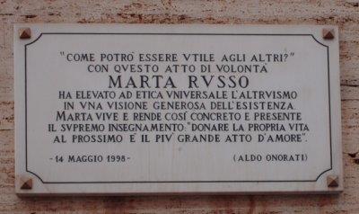 Marta Russo: la targa in sua memoria