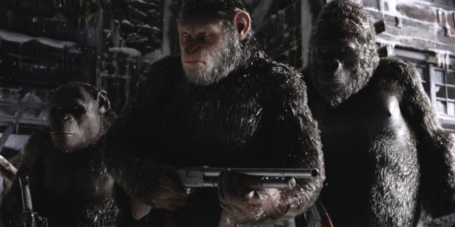 The War - Il pianeta delle scimmie, le scimmie armate
