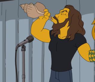 Jason Momoa in versione Simpson!