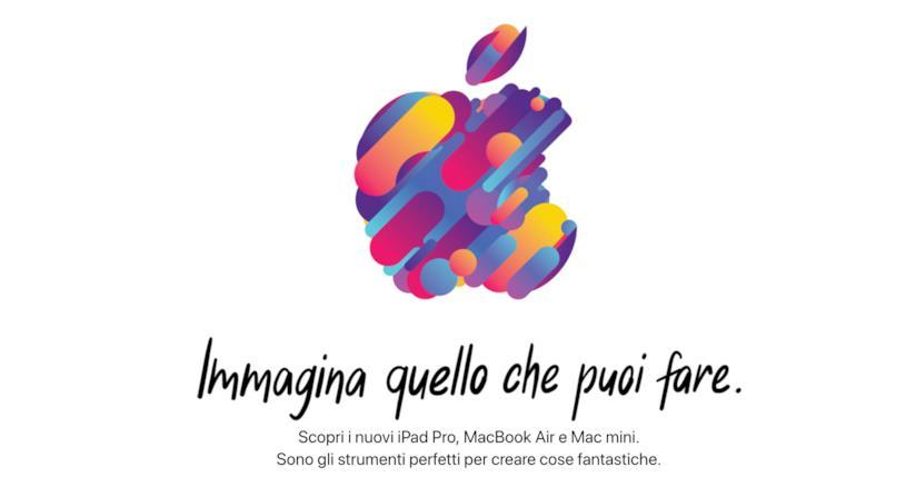Immagine promozionale dell'evento di ottobre di Apple