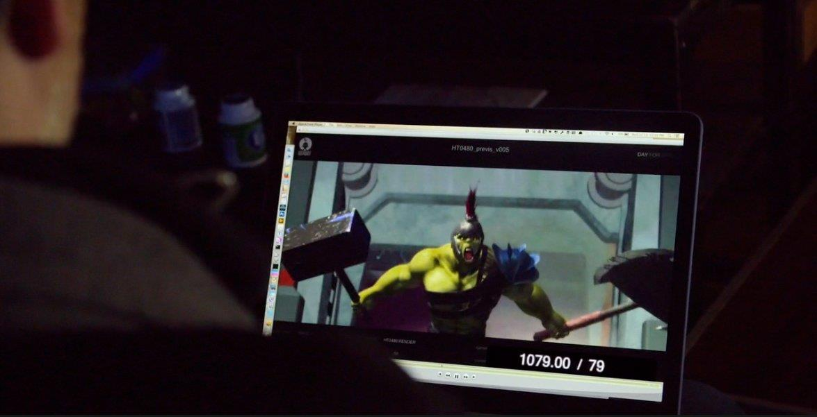 Hulk in una battaglia contro Thor nei disegni di Thor: Ragnarok