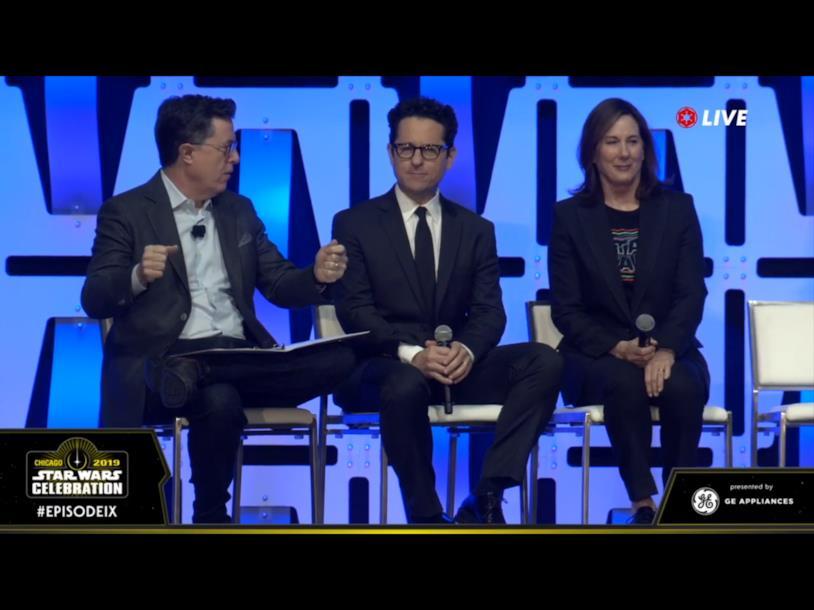 Immagine di J.J. Abrams, Kathleen Kennedy e Stephen Colbert