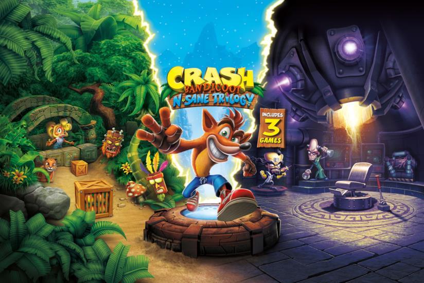 La cover ufficiale di Crash Bandicoot N.Sane Trilogy