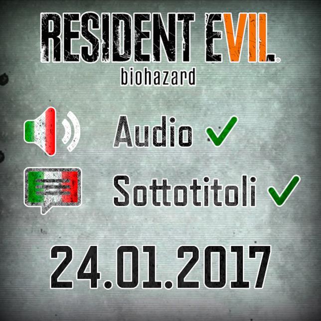 Resident Evil 7 sarà localizzato in italiano