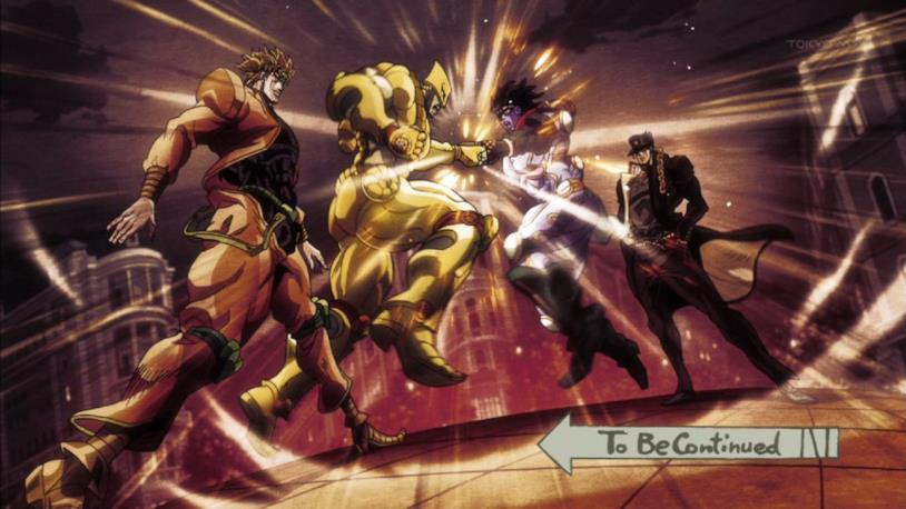 Stardust Crusaders Jotaro VS Dio