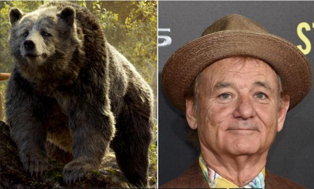 Bill Murray in un collage con Baloo
