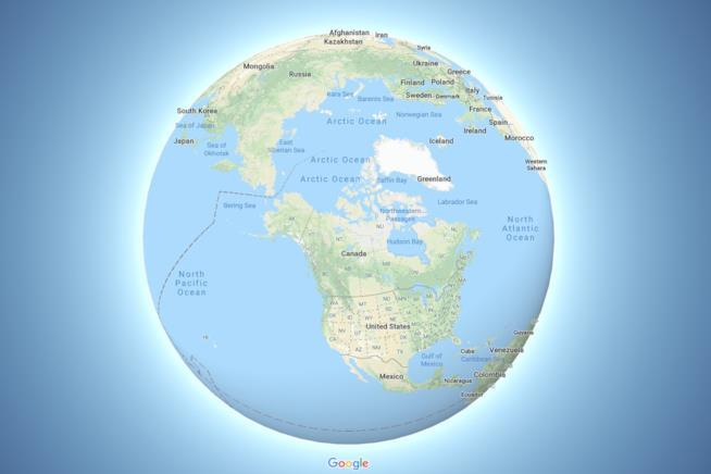 Visione globale della Terra su Google Maps