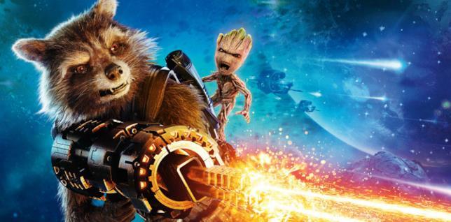 Rocket Raccoon e Baby Groot in un'immagine promozionale