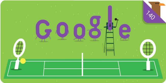 Il Doodle dei 140 anni di Wimbledon