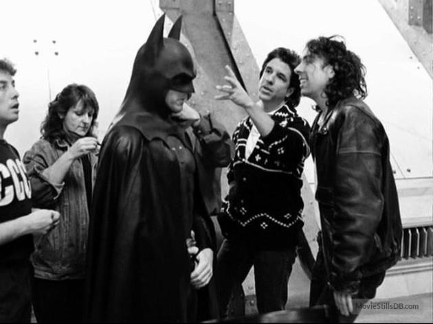 Tim Burton e Micheal Keaton dietro le quinte di Batman