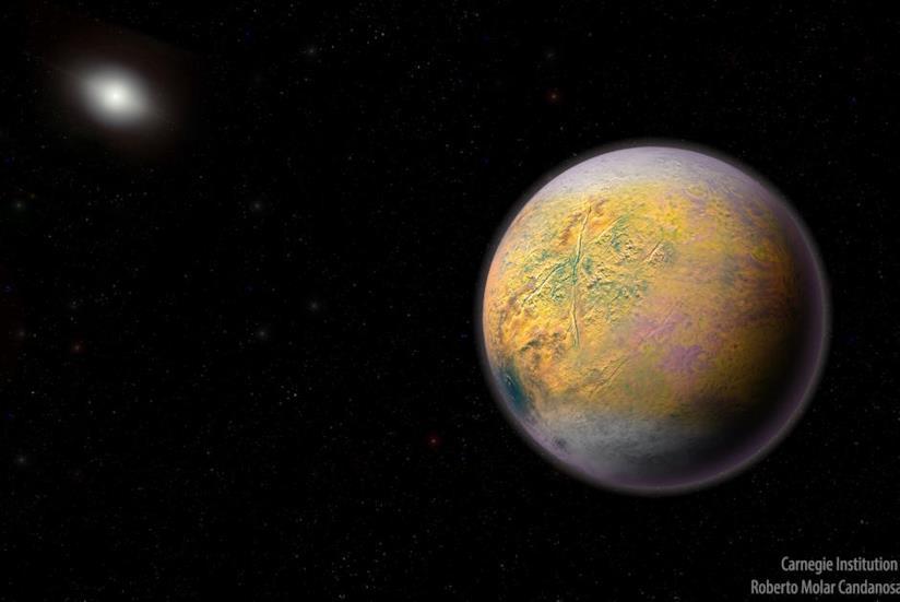 Una rappresentazione ipotetica del pianeta Goblin