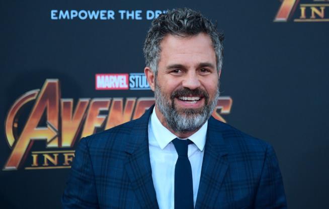 Primo piano di Mark Ruffalo alla prima mondiale di Avengers: Infinity War