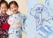 Le piccole modelle in due versioni dei kimono delle principesse