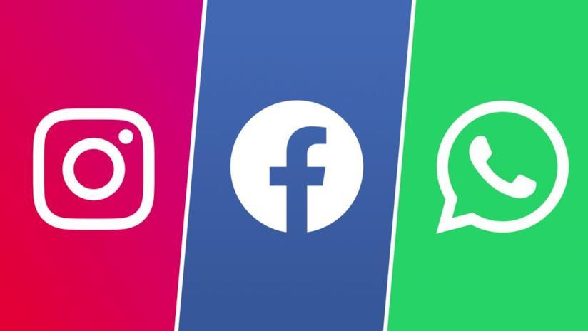 I loghi di Instagram, Facebook e WhatsApp