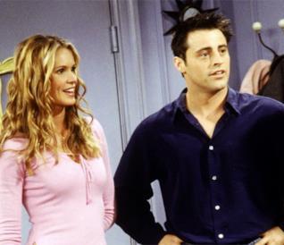 Elle Macpherson nel ruolo di Janine con Joey in un episodio di Friends