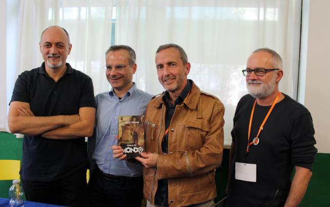 Franco Forte, Marco Rana, Dario Tonani e Franco Brambilla a Strani Mondi 2018