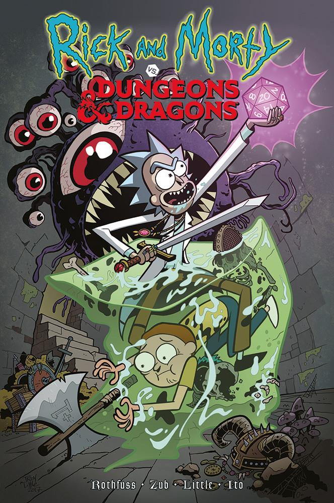 La copertina dell'edizione italiana di Rick and Morty VS Dungeons & Dragons