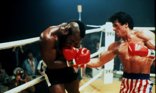 Sul ring Rocky sfida Clubber Lang, nel film Rocky III del 1982