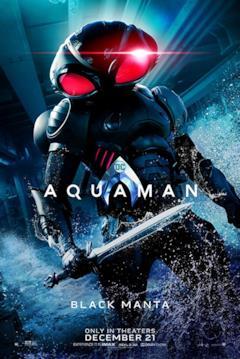 Poster dedicato al personaggio di Black Manta