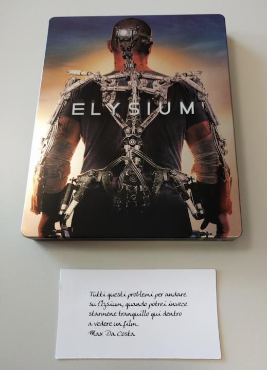 Steelbook con frase del film Elysium