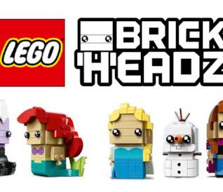 3 nuovi set LEGO BrickHeadz dedicati ai personaggi de La Sirenetta e Frozen