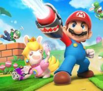 Mario e i Rabbids posano sulla copertina del loro videogame