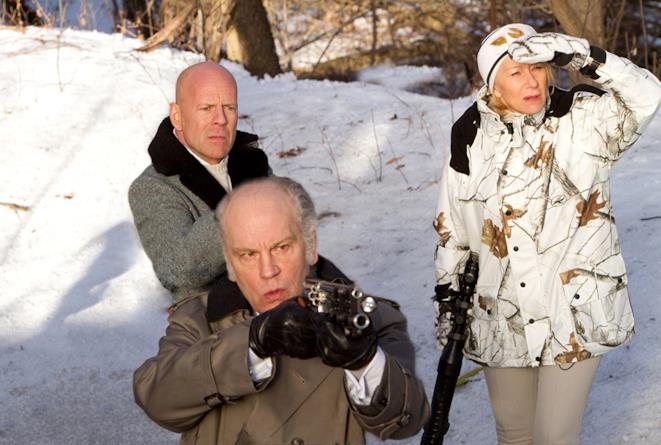 Bruce Willis, Helen Mirren e John Malkovich in Red