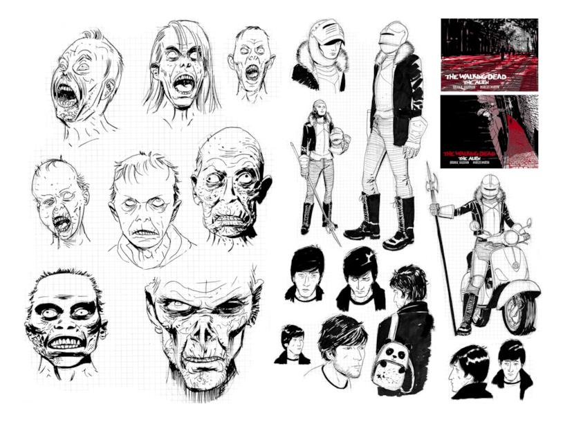 Zombie, Jeff e Claudia: i personaggi disegnati da Marcos Martin