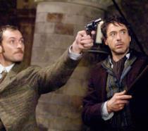 Jude Law e Robert Downey Jr.